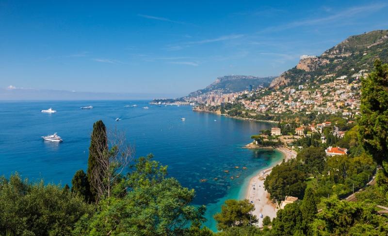 View from Cap Martin towards Monaco