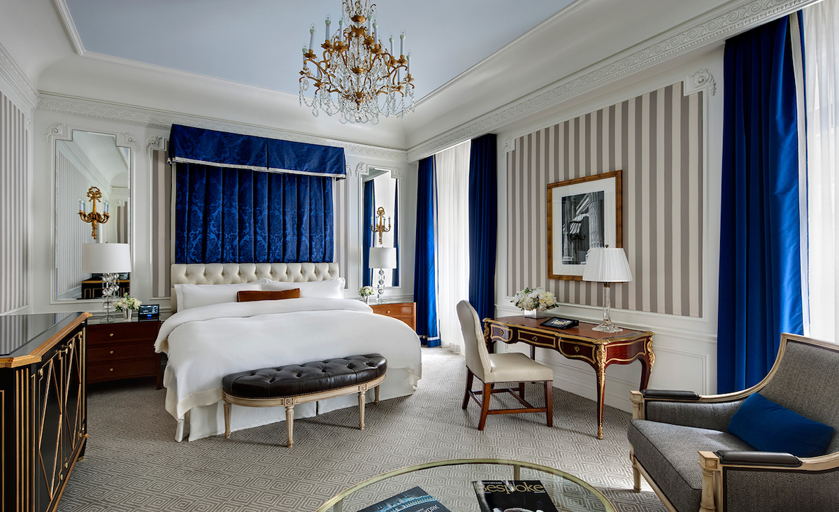 inside of the hotel room in the st regis