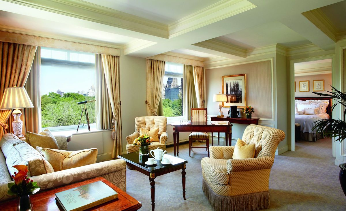 hotel room of the ritz carlton